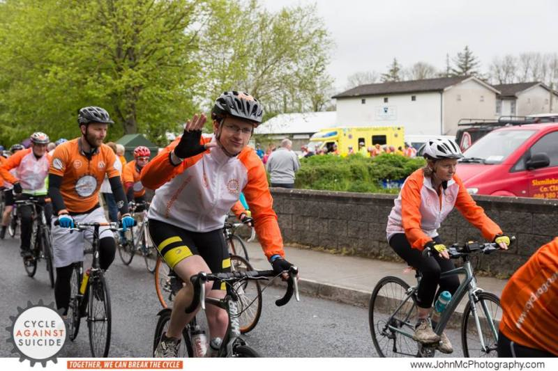 Ciaran on his way during Cycle Against Suicide 2015